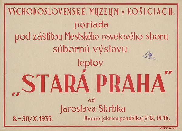 Košický autor - Jaroslav Skrbek - Stará Praha - lepty