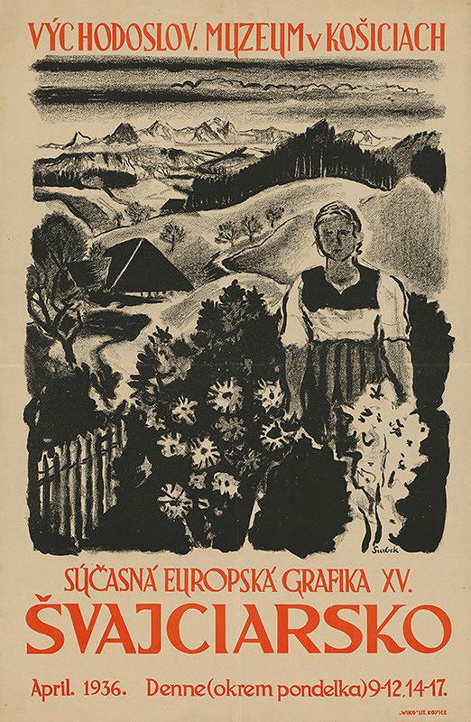 Viktor Surbek - Súčasná európska grafika XV: Švajčiarsko. Východoslovenské muzeum v Košiciach