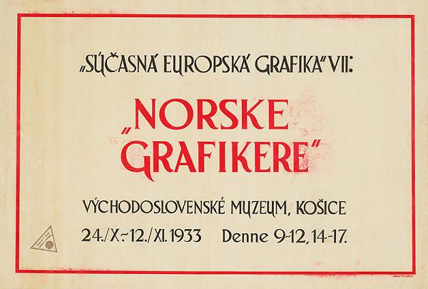 Košický autor - Súčasná európska grafika VII-nórske grafikere