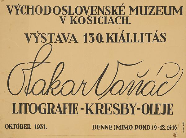 Košický autor - Litografie-kresby-oleje-Otakar Vaňáč