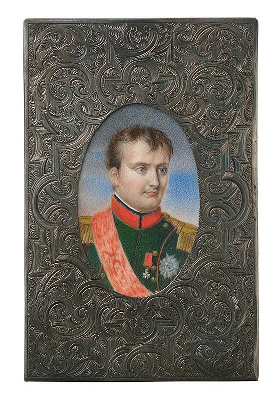 Stredoeurópsky autor zo začiatku 19. storočia – Miniatúra Napoleona v rámiku