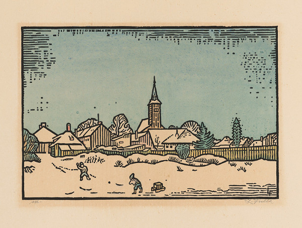 Ľudovít Fulla – Zimná krajina