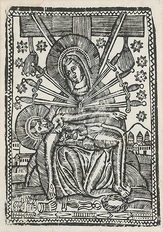 Neznámy autor – Sedembolestná Panna Mária