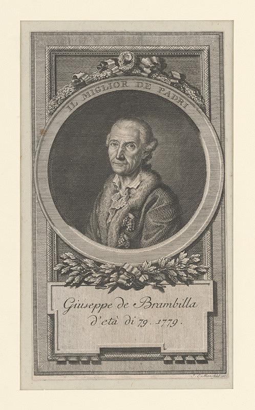 Johann Ernst Mansfeld – Podobizeň Giuseppe de Brambilla