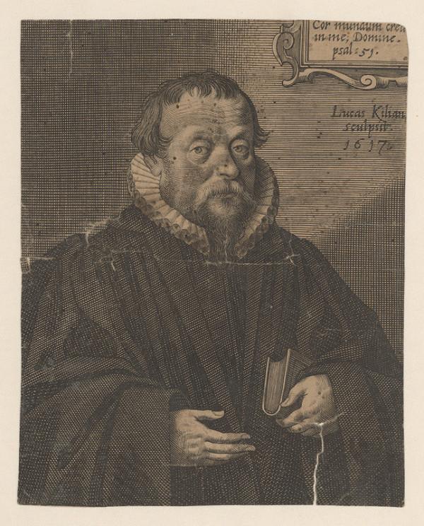 Lucas Kilian – Podobizeň muža s knihou v ľavej ruke