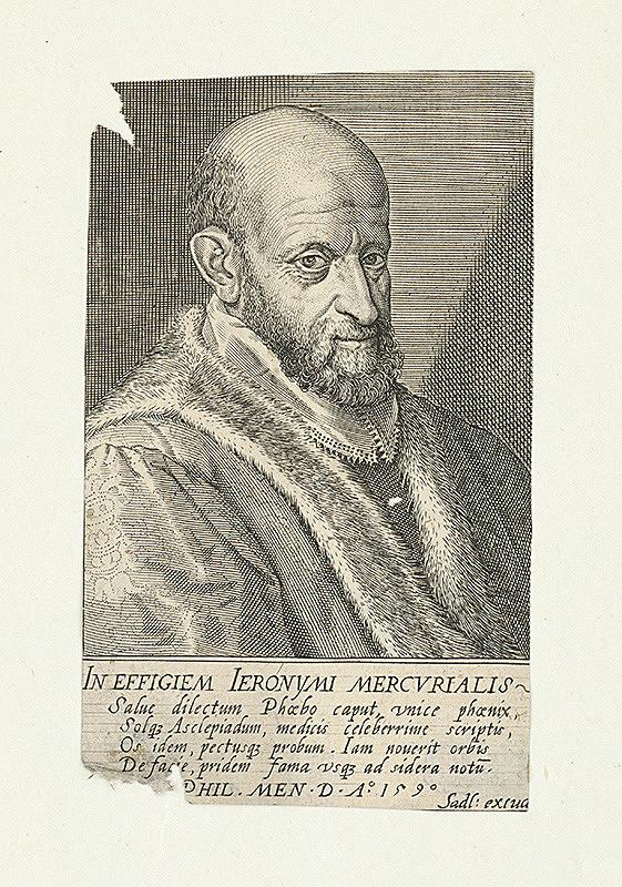 Aegidius Sadeler II. – Podobizeň Hieronýma Mercurialisa