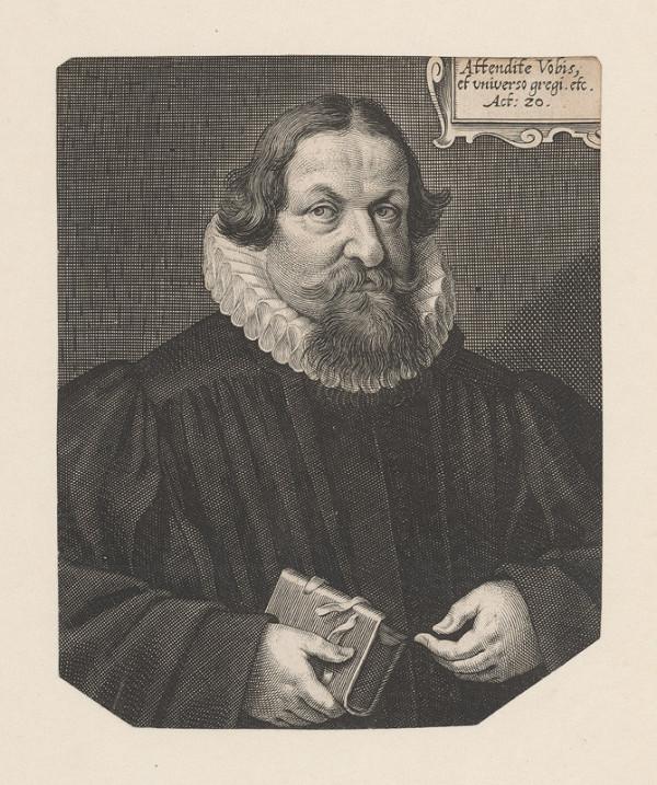 Lucas Kilian – Podobizeň muža s knihou v pravej ruke