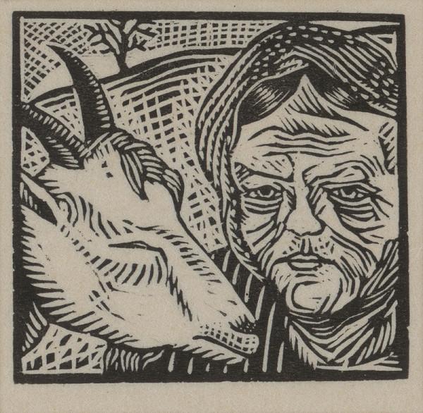 Mikuláš Galanda – Starena s kozou