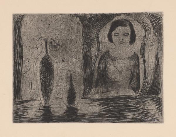Mikuláš Galanda – Žena sediaca pri stole I.