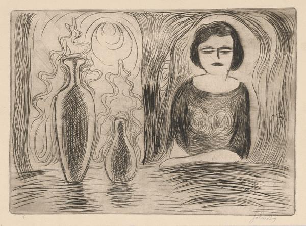 Mikuláš Galanda – Žena sediaca pri stole