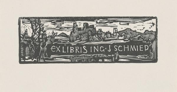 Jaroslav Vodrážka – Ex libris Ing. J. Schmied