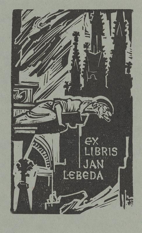 Jaroslav Vodrážka – Ex libris Ján Lebeda