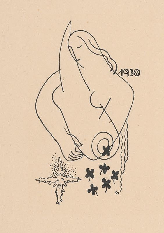 Mikuláš Galanda – Kresba k novoročenke 1930