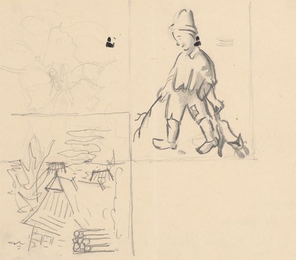 Mikuláš Galanda – Tri študijné kresby k obálke