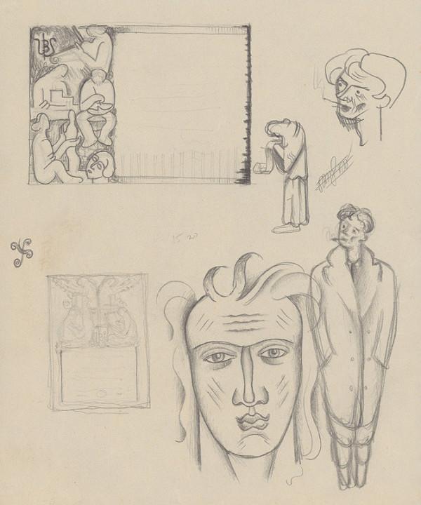Mikuláš Galanda – Štúdia hláv a postáv, obálka UBS