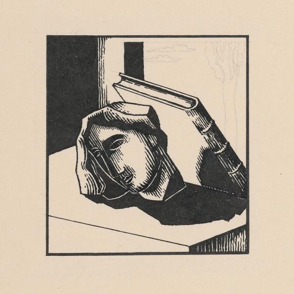 Mikuláš Galanda – Hlava s knihou