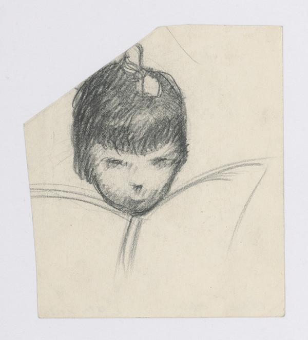 Mikuláš Galanda – Hlava dievčaťa s mašľou s nadhľadu