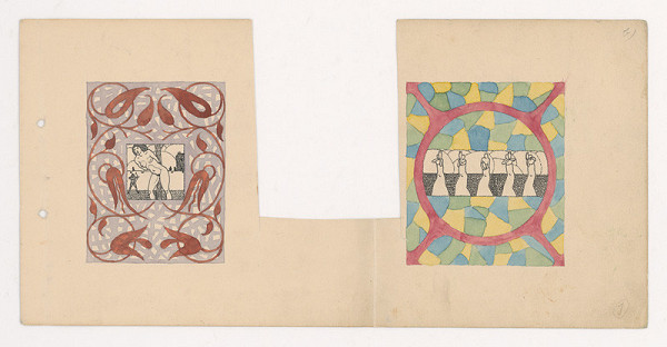 Mikuláš Galanda – Dve kresby v orientálnom ráme
