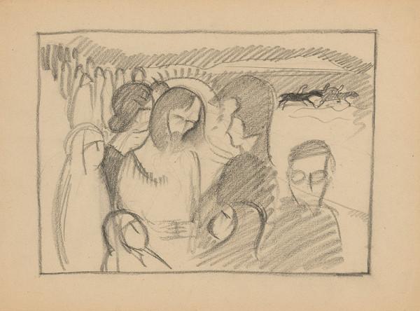 Mikuláš Galanda – Náčrt náboženskej kompozície