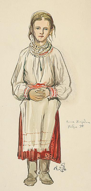 Jaroslav Vodrážka – Štúdia dievčaťa z Heľpy