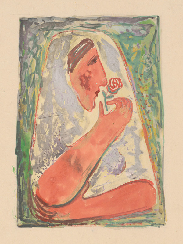 Mikuláš Galanda – Žena s ružou