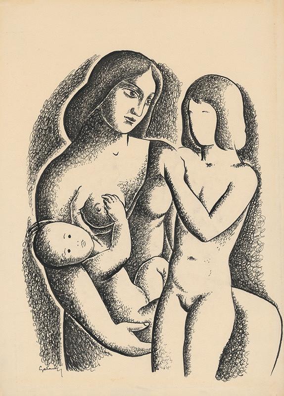 Mikuláš Galanda – Matka s deťmi