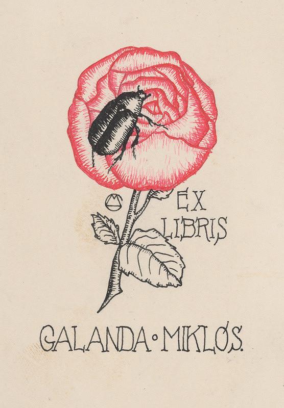 Mikuláš Galanda – Ex libris Galanda Miklós