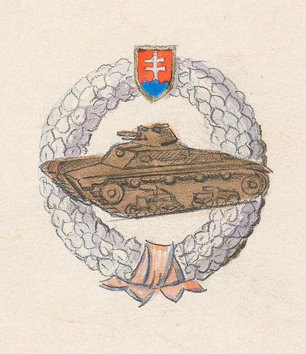 Fraňo Štefunko – Náčrt odznak pre útočnú vozku