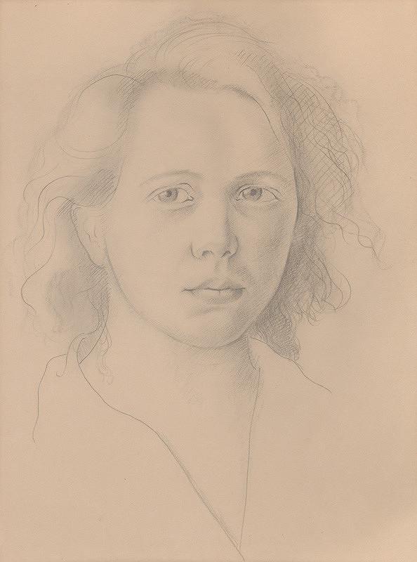 Mikuláš Galanda – Portrét Márie Galandovej