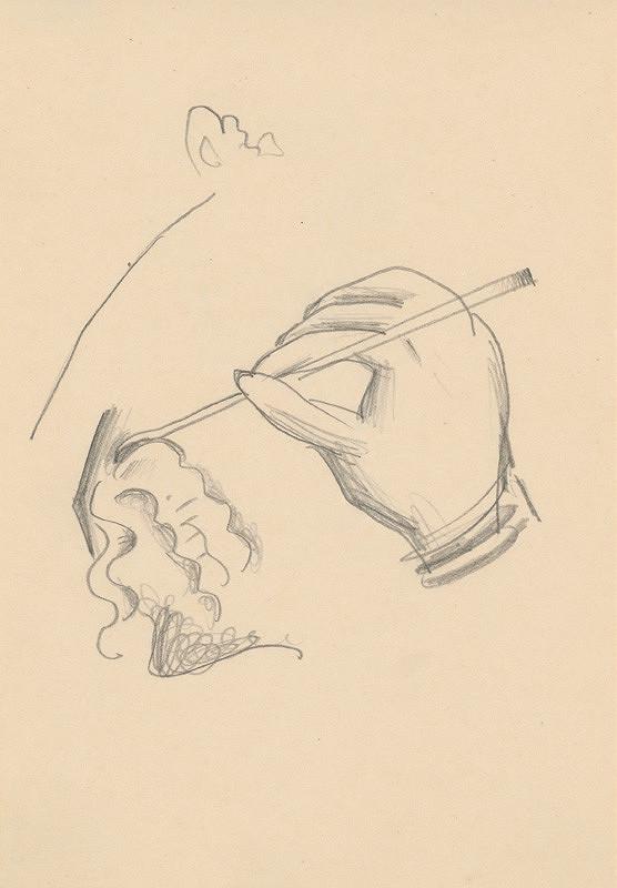 Mikuláš Galanda – Štúdia ruky s pracovným nástrojom