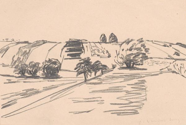 Oldřich Smutný – Štúdia krajiny so stromami