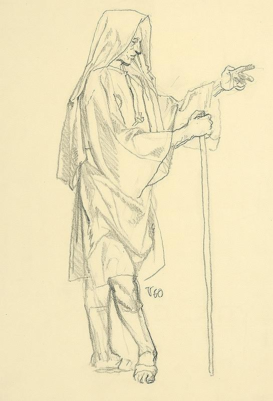 Jaroslav Vodrážka – Postava muža v stredovekej halene s kapucňou