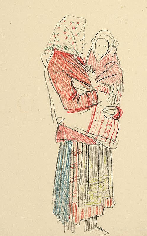 Jaroslav Vodrážka – Žena s dieťaťom na rukách