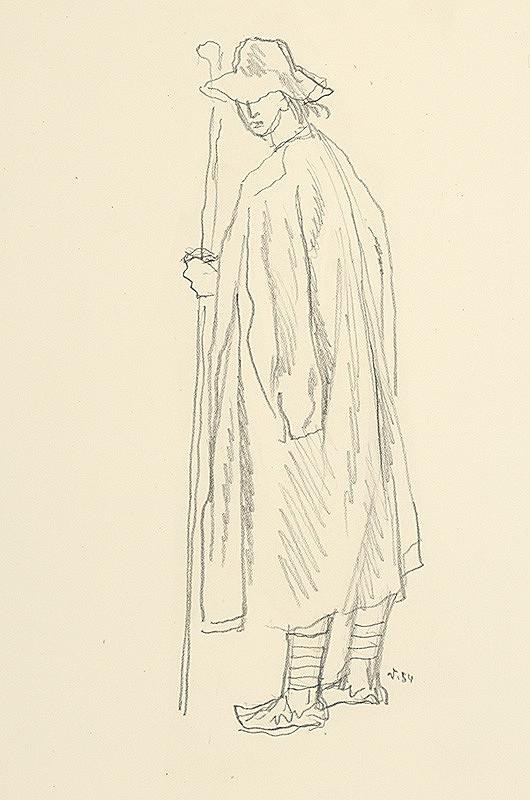 Jaroslav Vodrážka – Muž v halene s palicou