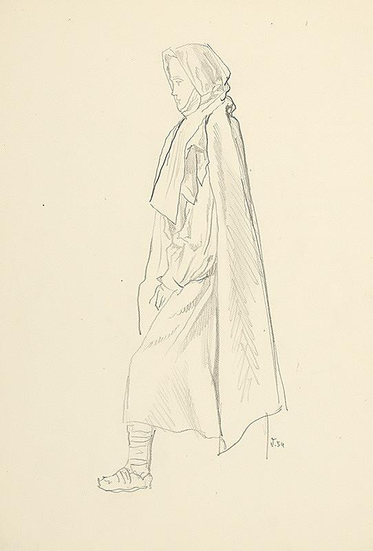 Jaroslav Vodrážka – Žena v stredovekom ľudovom odeve