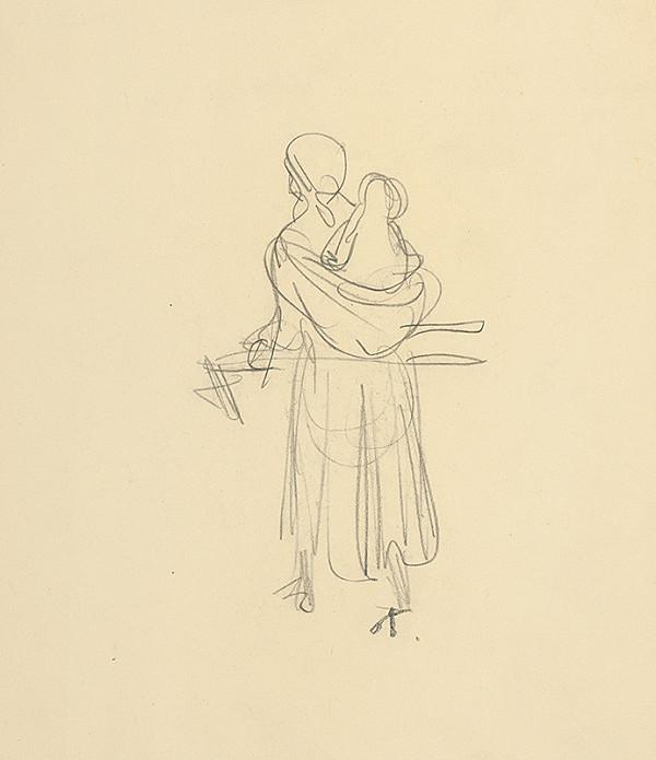 Jaroslav Vodrážka – Žena s dieťaťom na chrbte