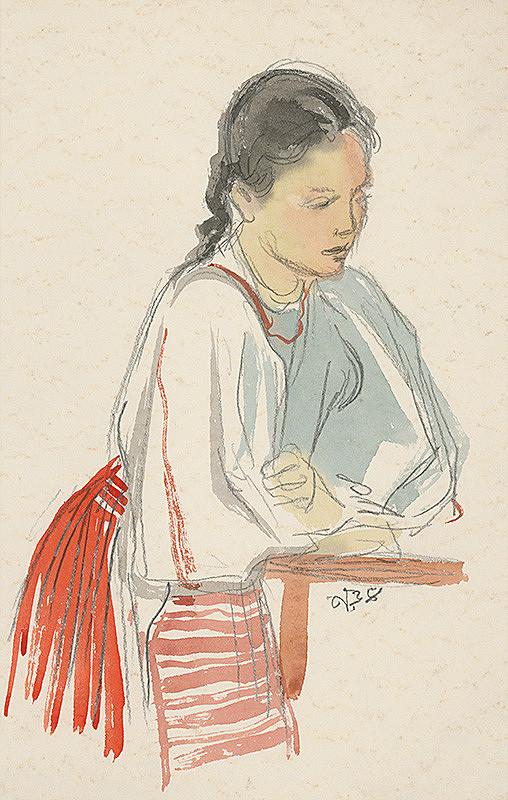 Jaroslav Vodrážka – Krojová štúdia dievčaťa