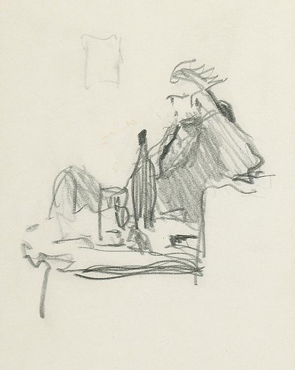 Jaroslav Vodrážka – Sediaci muž pri stolíku