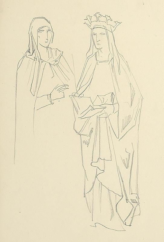 Jaroslav Vodrážka – Dve stojace figúry
