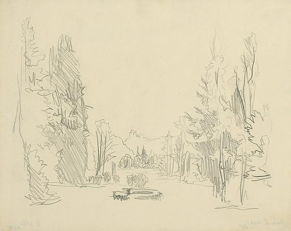 Jaroslav Vodrážka – Krajina so stromami