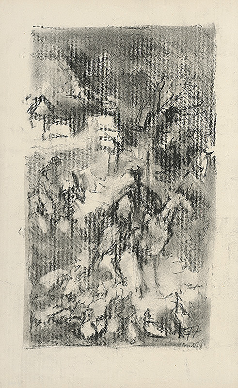 Jaroslav Vodrážka – Náčrt s jazdcami
