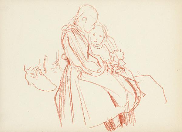 Jaroslav Vodrážka – Sediaca žena s dieťaťom