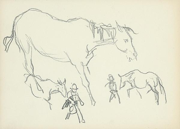 Jaroslav Vodrážka – Náčrt s pastiermi