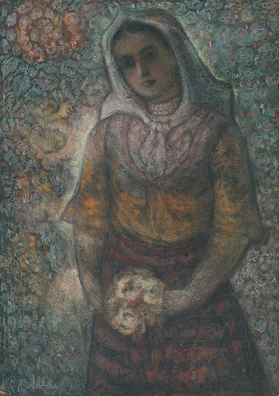 Janko Alexy – Žena s kvetmi