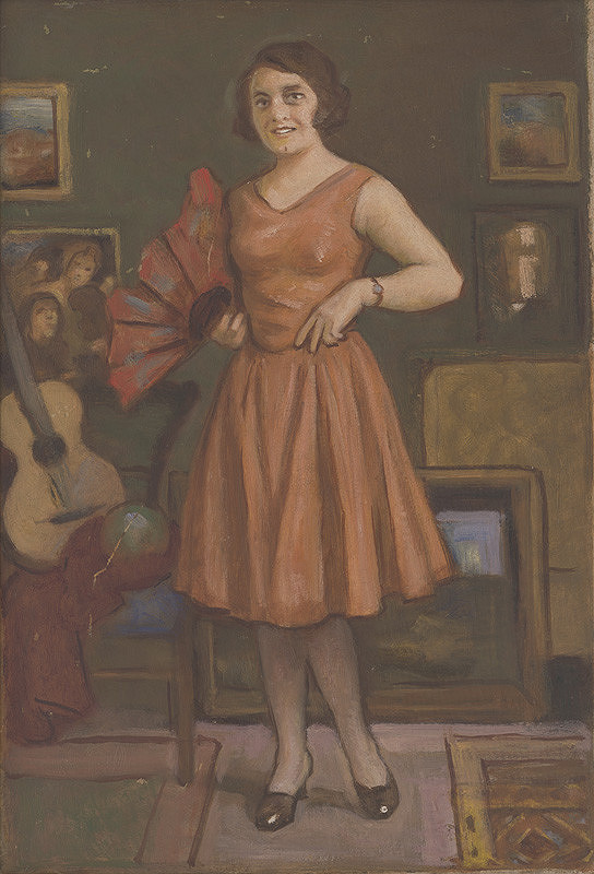 Milan Thomka Mitrovský – Žena s červeným vejárom