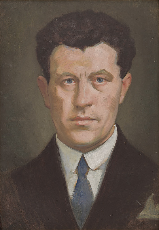 Milan Thomka Mitrovský – Muž s modrou kravatou I