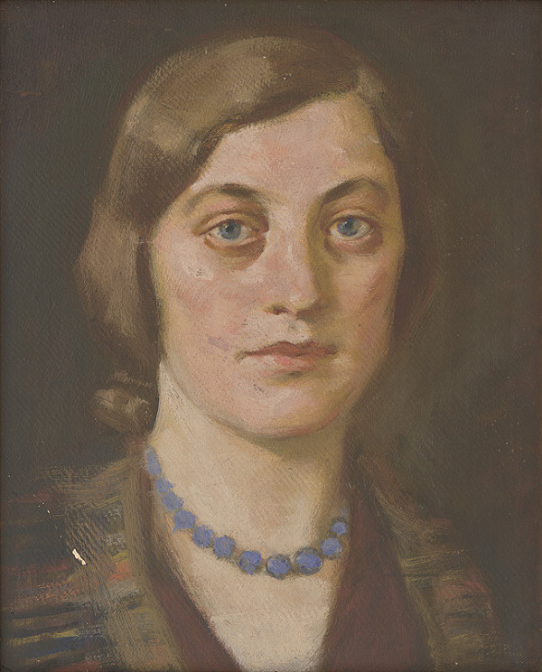 Milan Thomka Mitrovský – Mladá žena s modrým náhrdelníkom