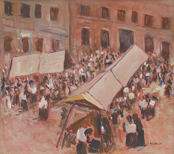 Jozef Kollár – Trh v Banskej Štiavnici