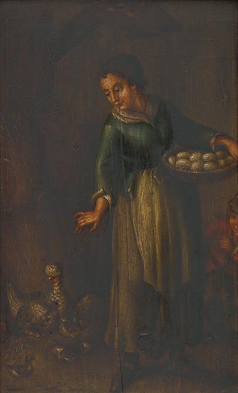 Stredoeurópsky autor – Žena s košíkom vajec