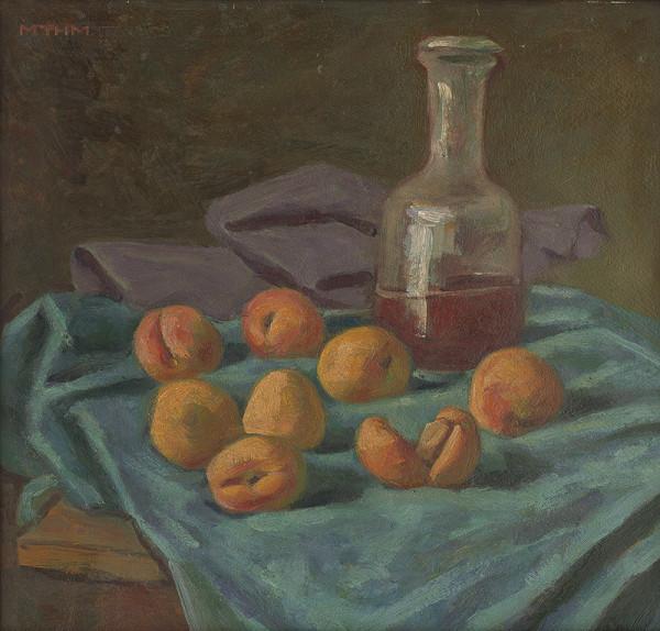 Milan Thomka Mitrovský – Zátišie s fľaškou a jabĺčkami